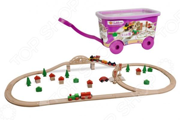 Набор деревянной железной дороги Eichhorn в тележке