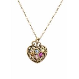 Купить Кулон Mitya Veselkov «Сердце с камнями»