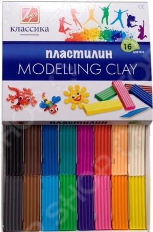 Набор пластилина Луч «Классика»: 16 цветовЛепка из пластилина<br>Набор пластилина Луч Классика превосходный подарок детям от трех лет. С этим замечательным набором процесс лепки превратится не просто в увлекательную игру, а в серьезное исследование. Ребенок сможет придумывать и создавать различные объекты самостоятельно или же с помощью взрослых. Занятия лепкой крайне полезны, поскольку направлены на развитие мелкой моторики рук и формирование творческого мышления. Изготовлено из безопасных нетоксичных материалов. В наборе 16 цветов.<br>