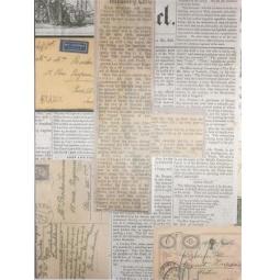 фото Ткань декоративная ScrapBerry's Сатин клеевой «Вырезки газет»