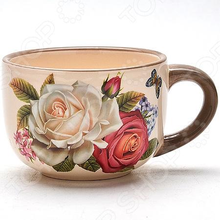Тарелка суповая Loraine LR-21705Суповые тарелки<br>Тарелка суповая Loraine LR-21705 красивая и оригинальная бульонная чашка, которая станет великолепным украшением вашего обеденного стола. Изделие специально предназначено для подачи и хранения супов, борщей, бульонов и других жидких блюд. Бульонная чашка отличается практичной и удобной формой, а специальная ручка позволит держать чашку без страха обжечься. Большая, глубокая тарелка способна вместить до 580 мл жидкости. Изделие выполнено из высококачественной доломитовой керамики, которая гарантирует его долговечность и экологичность. Стильный дизайн бульонницы придется по душе даже самым требовательным хозяйкам. Чашка проста в уходе и подходит для мытья в посудомоечной машине.<br>
