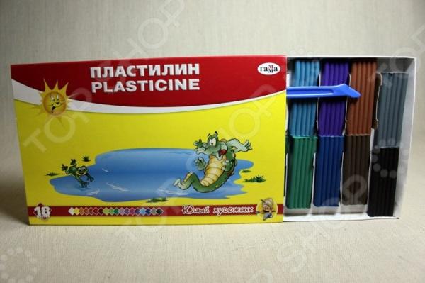 Набор пластилина Гамма «Юный художник»: 18 цветов