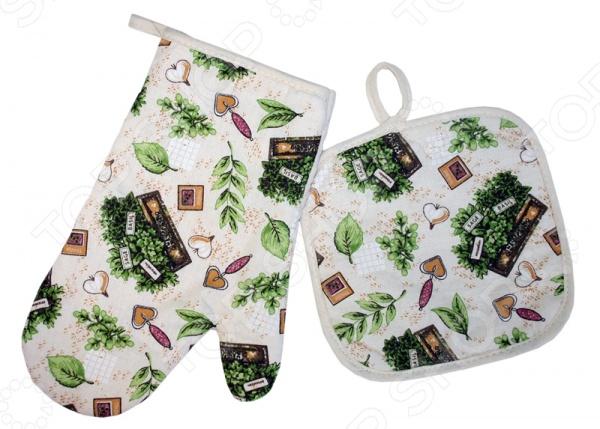 Комплект кухонный BONITA «Травы» прихватка перчатка mayer