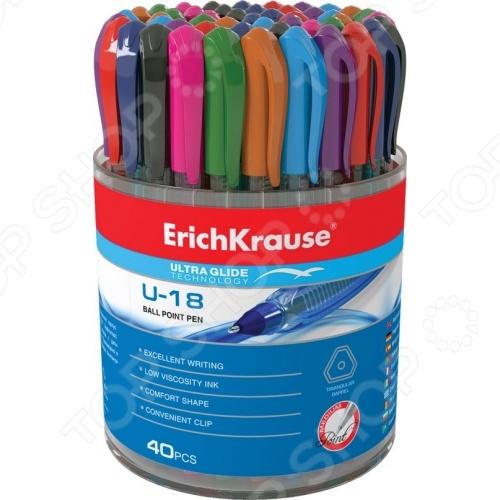 Набор ручек шариковых Erich Krause Ultra Glide Technology U-18: 40 цветов
