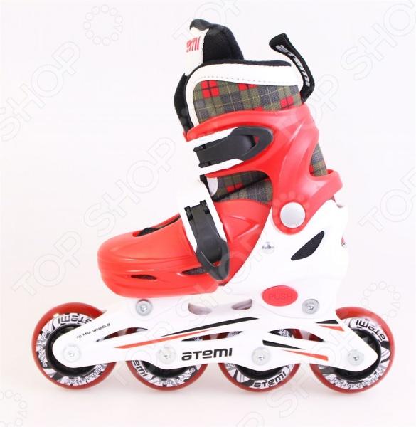 Детские роликовые коньки Atemi AJIS-12.06 Square. Цвет: красный