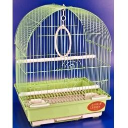 фото Клетка для птиц Золотая клетка с выдвижным поддоном. Цвет: салатовый