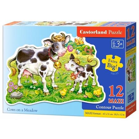 Купить Пазл 12 элементов Castorland «Коровки на лугу»