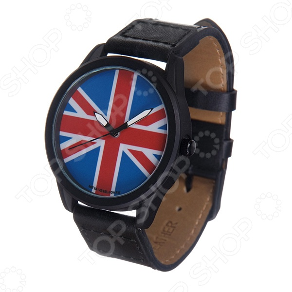 Часы наручные Mitya Veselkov «Британский флаг» MVBlack
