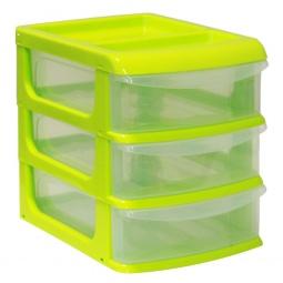 фото Бокс для хранения мелочей средний IDEA М 2765. Цвет: салатовый. Количество полок: 3