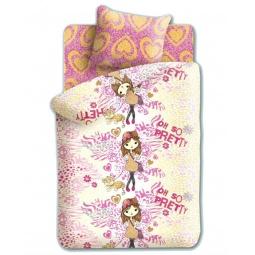 фото Комплект постельного белья Непоседа «Девочка и леопард». 1,5-спальный