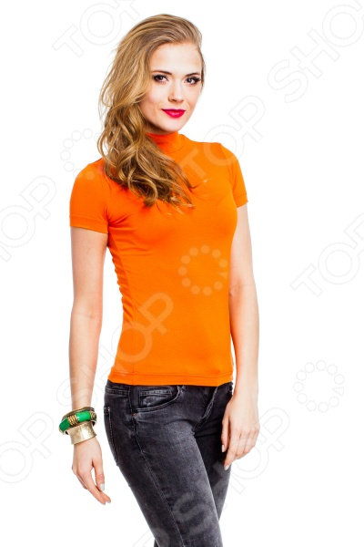 Водолазка Mondigo 037. Цвет: оранжевый