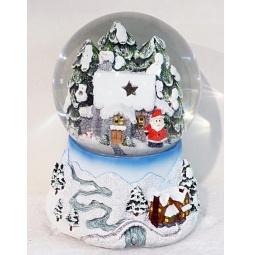фото Декорация-шар музыкальная Новогодняя сказка «Домик» 972094