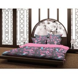 фото Комплект постельного белья Волшебная ночь «Магнолия». Семейный. Тип ткани: сатин-роял