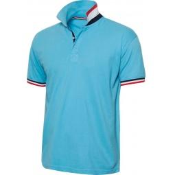 фото Рубашка-поло Clique «Ньютон». Цвет: голубой. Размер одежды: XL