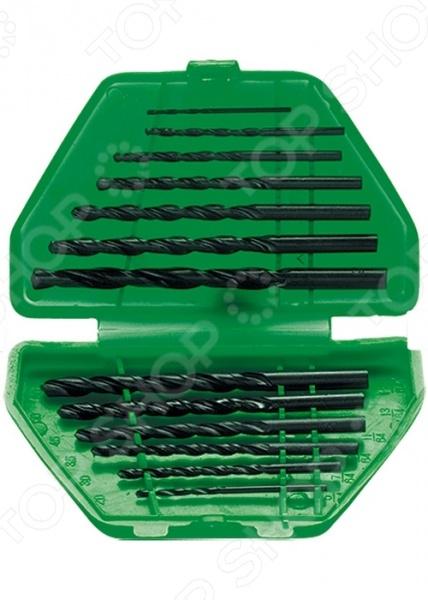 Набор сверл по металлу SPARTA 723455Наборы сверл<br>Набор сверл по металлу SPARTA 723455 функциональный набор, который используется при осуществлении строительных и ремонтных работ любых масштабов. Набор изготовлен из высококачественной углеродистой стали, которая характеризуется своей долговечностью. Данный набор предназначен для сверления мягких металлов. Каждое сверло оснащено цилиндрическим хвостовиком. В набор входят сверла самых ходовых размеров: 1,5; 2; 2,5; 3; 3,5; 4; 4,5; 5; 5,5; 6; 6,5 мм. Удобный пластиковый пенал имеет деления специально предназначенные для каждого инструмента.<br>