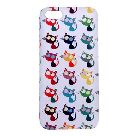 Чехол для iPhone 5 Mitya Veselkov «Цветные кошки в ряд»