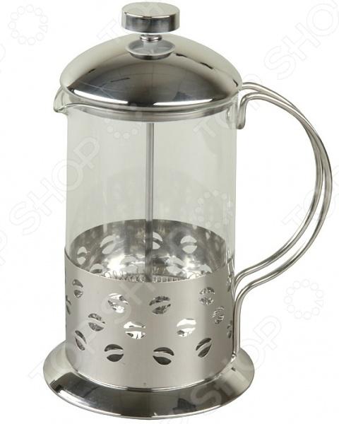 Френч-пресс Rosenberg RSG-660002-LФренч-прессы<br>Френч-пресс Rosenberg RSG-660002-L используется для приготовления чая и кофе путем настаивания и последующего отжима заваренного напитка при помощи специального поршня. Корпус модели выполнен из нержавеющей стали, а колба из, устойчивого к перепадам температур, стекла. Френч-пресс снабжен ручкой и носиком для удобства наливания напитков. Торговая марка Rosenberg это синоним первоклассного качества и стильного современного дизайна. Компания занимается производством и продажей кухонных инструментов, аксессуаров, посуды и т.д. Функциональность, практичность и инновационные решения вот основные принципы торгового бренда Rosenberg.<br>