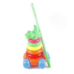 фото Каталка для малыша Shantou Gepai «Пирамида. Крокодильчик»