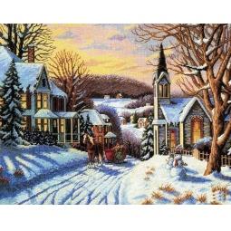 фото Набор для вышивания Белоснежка «Зима в городке»