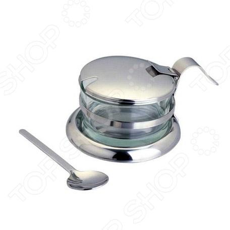 Сахарница Bekker BK-3021Сахарницы. Конфетницы<br>Сахарница Bekker BK-3021 представляет собой надежный и легкий в использовании элемент сервировки стола, который может отлично дополнить как домашний интерьер, так и уютное кафе. Изделие выполнено из нержавеющей стали и плотного стекла, что гарантирует долгий срок службы и неприхотливость в обслуживании.<br>