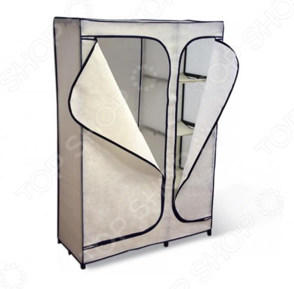 Вешалка-гардероб с чехлом Sheffilton 2016 это компактное и практичное решение большой вместимости для хранения вещей. Каркас стойки выполнен из металлических трубок и пластиковых соединительных крепежей. Вешалка-гардероб двухсекционная, причем первая секция оснащена тремя тканевыми полками. Плотный чехол, поставляемый в комплекте, защитит вашу одежду от пыли, грязи и влаги.