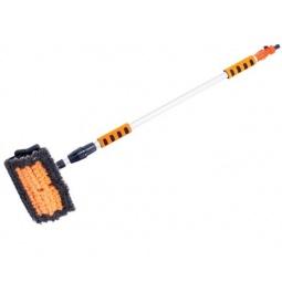 Купить Щетка для мойки под шланг телескопическая с клапаном регулировки воды Автостоп AB-1964