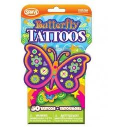 фото Татуировки временные для девочек Savvi «Бабочки». Количество: 50 предметов