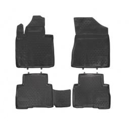 Комплект ковриков в салон автомобиля Novline-Autofamily Fiat Grande Punto 5D 2012. Цвет: бежевый - фото 2