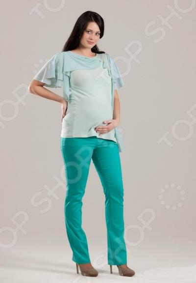 Брюки Nuova Vita 5422.3 предназначены специально для будущих мам. Модель с широким эластичным поясом, 2 вшивными карманами спереди и 2 накладными карманами сзади отлично подойдет для ежедневной носки. Оснащенный регулятором пояс, не давит и не стесняет движений, что делает возможной носку брюк на любом сроке беременности. Предусмотрены шлевки для ремня. Брюки Nuova Vita 5422.3 изготовлены из 70 вискозы, 25 полиэстера и 5 эластана. Материал изготовления обладает целым рядом отличных потребительских свойств: воздухопроницаемость, гигроскопичность, мягкость, устойчивость к истиранию. Изделие крайне практично и не деформируется после стирки.