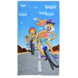 фото Полотенце махровое Мульткарнавал «Твитти и Лола на велосипеде»