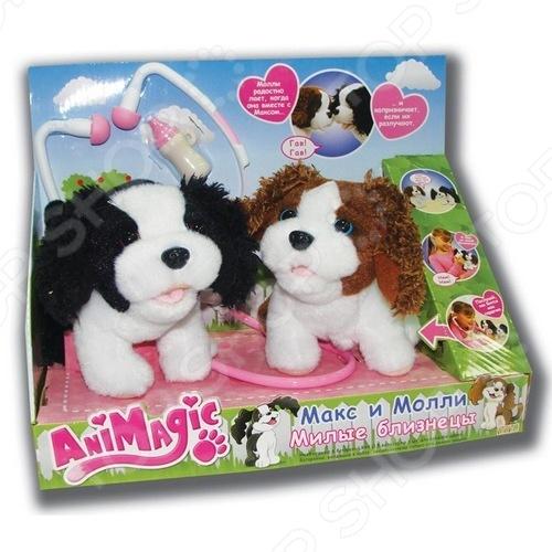 фото Игрушка интерактивная мягкая Vivid Щенки Макс и Молли, Мягкие интерактивные игрушки