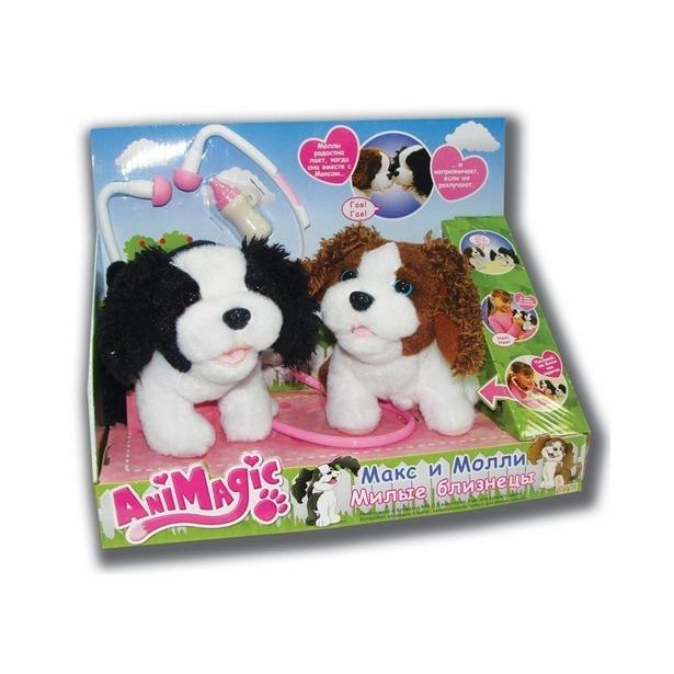 фото Мягкая игрушка интерактивная Vivid Щенки Макс и Молли