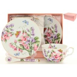 Купить Чайная пара с ложками Elan Gallery «Душистый цветок»