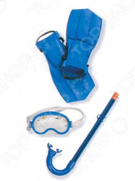 Набор для плавания: маска, трубка, ласты Intex 55951. В ассортиментеАксессуары для плавания<br>Товар продается в ассортименте. Цвет изделия при комплектации заказа зависит от наличия цветового ассортимента товара на складе. Набор для плавания: маска, трубка, ласты Intex 55951 будет просто незаменим для детей при активном отдыхе у воды. В комплект входит все самое необходимое для исследования глубин: маска, ласты и трубка для дыхания под водой. Все изделия выполнены из высококачественных материалов, поэтому долго прослужат юному искателю сокровищ.<br>
