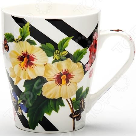 Кружка Loraine «Цветы» LR-24450 керамическая посуда