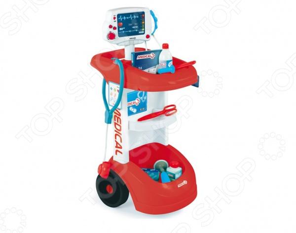 Игрушка-каталка со звуком Smoby «Электронная тележка доктора»