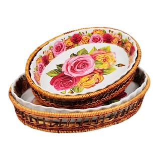 Купить Набор форм для выпечки керамических Mayer&Boch «Домашний уют». Рисунок: розы