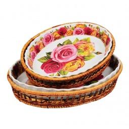 фото Набор форм для выпечки керамических Mayer&Boch «Розы» MB-24802