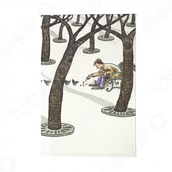 Обложка для автодокументов Mitya Veselkov «Парень в зимнем парке»Обложки для автодокументов<br>Обложка для автодокументов Mitya Veselkov Парень в зимнем парке это оригинальная обложка, которая поможет не только сохранить первоначальный вид документов, но и отметит ваш необычный стиль. Обложка достаточно большая 13,8 см х 9,5 см , она подойдет для правовой вкладки, документов на машину и доверенности. Прочный поливинилхлорид не протирается и не рвется, вы можете использоваться его для хранения любых документов подходящего размера.<br>