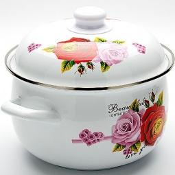 фото Кастрюля с крышкой Mayer&Boch Beautyful Romantic Rose. Объем: 5,8 л. Диаметр: 26 см