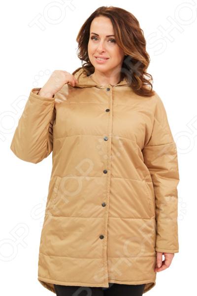 Куртка СВМ-ПРИНТ «Буржуа». Цвет: бежевыйВерхняя одежда<br>Куртка СВМ-ПРИНТ Буржуа создана с учетом всех особенностей женской фигуры. Она идеально подойдет для женщин любого возраста и комплекции. Продуманный дизайн изделия позволяет скрыть недостатки и подчеркнуть достоинства фигуры.  Легкая, мягкая и теплая куртка. Она не пропускает влагу и ветер, не сковывает движений.  Задняя часть куртки немного ниже.  По бокам предусмотрены карманы.  Удобный капюшон защитит от дождя и ветра.  Рукав регулируется по длине за счет отворота.  Уникальная модель доступная только в телемагазине Top Shop .  На фотографии куртка представлена в сочетании с брюками Уран .  Куртка сшита из качественного материала, состоящего на 100 из полиэстера.<br>