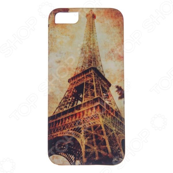 Чехол для iPhone 5 Mitya Veselkov «Эйфелева осенью» цена