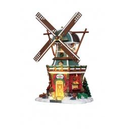 фото Домик керамический Lemax «Ветряная мельница»