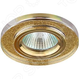 Светильник светодиодный встраиваемый Эра DK7 GD/SHGD светильник светодиодный встраиваемый эра kl11a wh gd