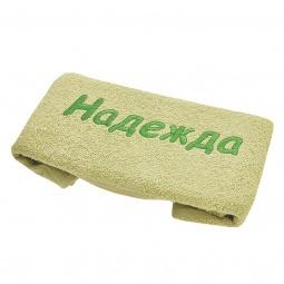 фото Полотенце подарочное с вышивкой TAC Надежда. Цвет: зеленый
