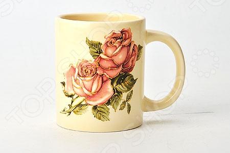 Кружка Loraine LR-21687 «Розы» масленка loraine lr 22444 розы в ассортименте