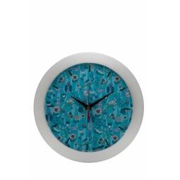 фото Часы настенные Mitya Veselkov «Голубой принт с птичками»