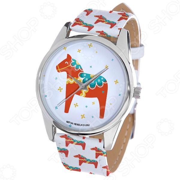 Часы наручные Mitya Veselkov «Скандинавская лошадка» ART mitya veselkov чехол для iphone 6 скандинавская лошадка