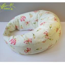 фото Подушка для беременных и кормления Velina на липучке. Рисунок: красные лилии