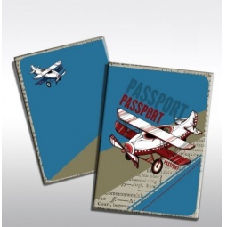 фото Обложка для паспорта Феникс-Презент «Самолет»
